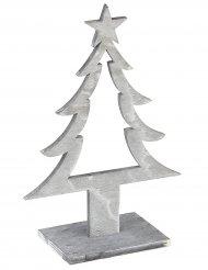 Dekoration juletræ i gråt træ