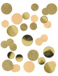 Papirkonfetti kraft med guldglimmer 30 gram