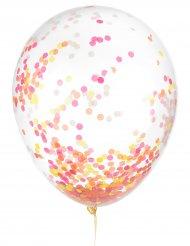 6 Latexballoner konfetti selvlysende 30 cm