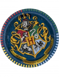 8 Små paptallerkener Harry Potter™ 18 cm