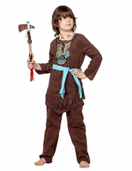 Kostume indianer med farverig krave til drenge