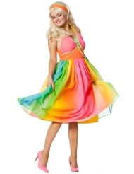 Kostume kjole fra 60´erne regnbue