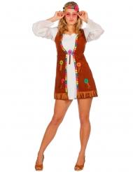 Kostume miss hippie i hvid til kvinder