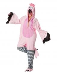 Kostume lyserød flamingo