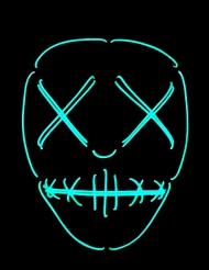 Neon maske med øjne og mund