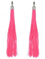 Øreringe lyserøde frynser