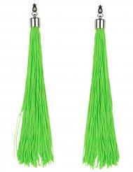 Øreringe grønne frynser