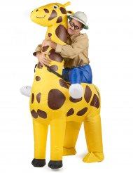 Kostume oppustelig giraf til voksne