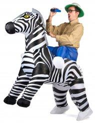 Kostume oppustelig zebra til voksne