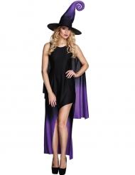 Kostume heks i sort og lilla til kvinder Halloween