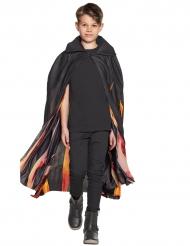 Kappe i sort med flammer til børn Halloween