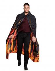 Sort kappe med flammer til voksne Halloween