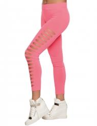 Leggings rosa med huller til voksne