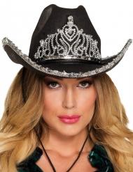 Hat prinsesse cowboy sort til kvinder