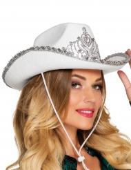 Hat prinsesse cowboy hvid til kvinder