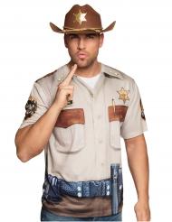T-shirt sheriff til voksne