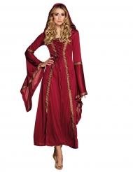 Kostume rød middelalder kvinde