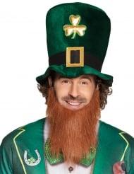 Tophat trekløver til voksne med skæg St Patrick