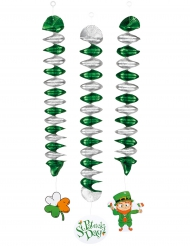 3 hængende dekoration med spiraler 60 cm Saint Patrick