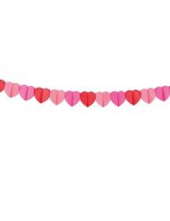 Guirlande i hjerteformet papir 4 m