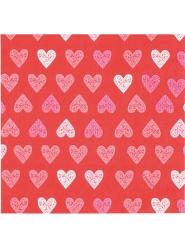 Røde servietter med hjerter