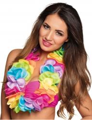 Hawaiikrans multifarvet deluxe satin
