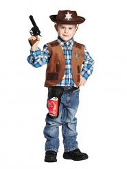 Cowboyvest brun til børn