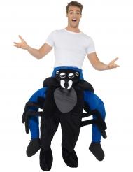 Kostume mand på ryggen af en edderkop