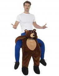 Kostume mand på ryggen af en bjørn til voksne