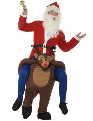 Kostume julemand på rensdyr til voksne