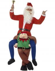 Kostume mand på ryggen af en julealf