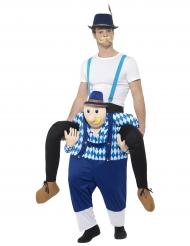 Kostume mand på ryggen af en tyroler