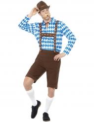 Kostume bayersk mand i blå og brun