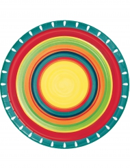 Tallerkener 8 stk. Mexican 22 cm