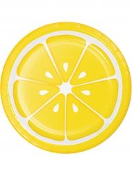 Citron paptallerkener 18 cm