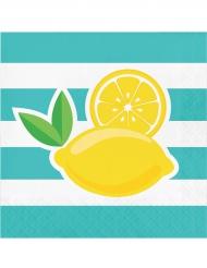 Servietter 16 stk. citron