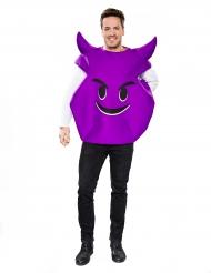 Kostume djævle ansigt i lilla til voksne