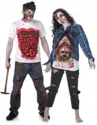 Parkostume uhyggeligt zombie Halloween