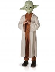 Kostume luksus Yoda Star Wars™ med maske til børn
