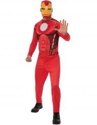 Rødt Ironman™ kostume til voksne