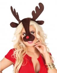Hårbånd julerensdyr til voksne