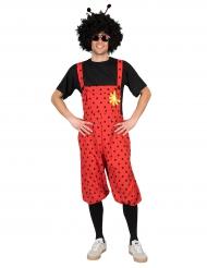 Kostume mariehøne bukser med blomst til voksne