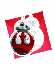 Invitationer 6 stk. Star Wars 8 The Last Jedi™