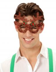 Rensdyr briller med glimmer til voksne