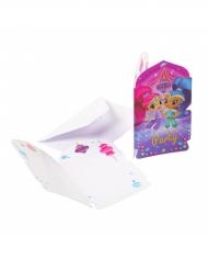 8 Invitationskort med konvolutter Shimmer & Shine™