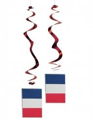 Fransk flag dekorationer 6 stk