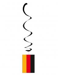 Sæt af 6 metalliske ophæng tysk flag