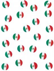 Konfetti med det mexicanske flag
