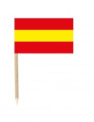 Snackpinde med det spanske flag 50 stk