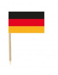 Sæt med 50 mini flag tyskland 3 x 5 cm